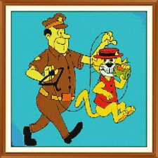 Top Cat 2 (officer dibble) CROSS STITCH CHART 12.0 x 12.0 Inches
