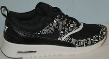 WOMEN'S NIKE AIR MAX THEA PRINT BLACK/WHITE ATHLETIC RUNNING SHOES SIZE 7