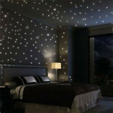 100pcs 3D Lots Stars Glow In The Dark Luminous Fluorescent Plastic Wall Stickers