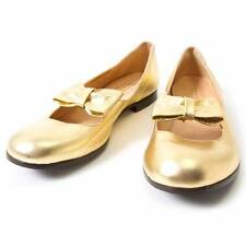 COMME des GARCONS and HESCHUNG Gold ribbon Pumps Size 6.5(K-30136)