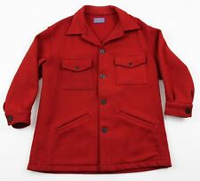 Pendleton Cruiser Field Hunting Wool Coat MENS LARGE USA Red Button Up
