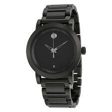 Movado Museum Sport Black Dial Black IP Stainless Steel Mens Watch 0606615