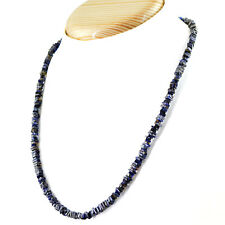 RARE 90.50 CTS NATURAL UNTREATED RICH BLUE TANZANITE BEADS HAND MADE NECKLACE