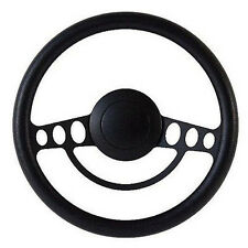 Black on Black Billet Hot Rod Steering Wheel -- 9 Hole for GM Columns, Ididit