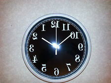 A1 NEW BACKWARDS CLOCK , ANTI CLOCKWISE REVERSE MOVEMENT BIRTHDAY JOKE GIFT IDEA