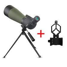 Wasserdicht 20-60x80 Angled Zoom Spotting Scope Telescope+Phone Mount Adapter DE