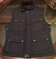 Ralph Lauren Black Label Quilted Vest Navy Blue Sz Large Made N Italy Custom Fit