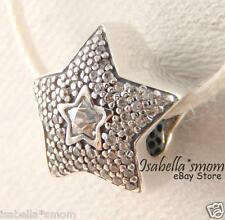 WISHING STAR Authentic PANDORA Silver/CZ Stones Charm/Bead NEW WINTER COLLECTION