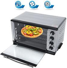 2000 Watt Mini Backofen 43 L. Ofen Drehspieß Umluft Timer Miniofen Pizzaofen NEU