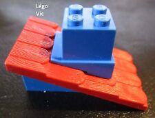 Lego Fabuland 787c03 Tuile Roof with Red Roof Slope with Hole blue cheminée 790