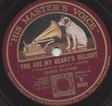 Derek Oldham singt Franz Lehar in englisch : You are my hearts delight