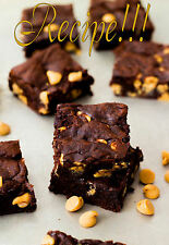 "☆Ultimate Choc Experiene!☆Ultimate Fudge Brownies w/Peanut Butter Chips ""RECIPE☆"