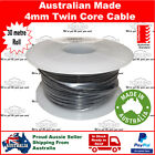 4mm TWIN CORE CABLE 30 METRE, 30M ROLL AUTOMOTIVE WIRE 12V 2 CORE 4x4 4wd car