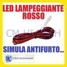 SIMULATORE ANTIFURTO PER AUTO CAMPER FURGONE BARCHE LED LAMPEGGIANTE ! ROSSO 12V