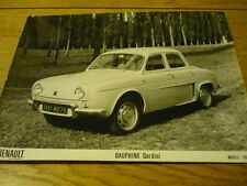 RENAULT DAUPHINE GORDINI ppess photo brochure connecté JM