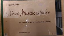 Uldall: Neue Musizierstucke: For 2 Recorders In C And Guitar: Music Score (A6)