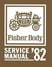 1982 General Motors Fisher Body Service Shop Repair Manual