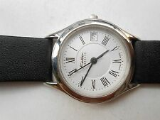VINTAGE SS SWISS 30M KOLBER GENEVE ROMAN WHITE DIAL LADIES QUARTZ WRISTWATCH