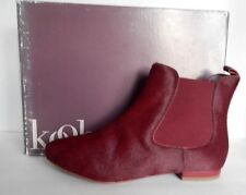 $365 KOOBA Maggie 2 Pony Hair Pull On Ankle Boots Size 7.5 Wine