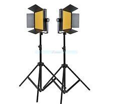 Godox 2000 2X 1000 LED Studio Video Continuous Light Kit For Camera Camcorder DV