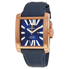 TW Steel CEO Goliath Blue Dial Dark Blue Leather Unisex Watch CE3018