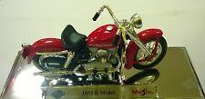 MAISTO 1:18 MOTO MOTORCYLE HARLEY DAVIDSON 1952 K MODEL  ART 39360