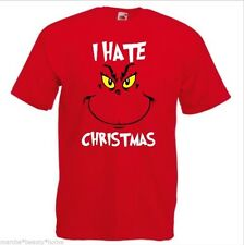 GRINCH hate xmas funny t-shirt mens unisex red top Dr seuss humour fotl M