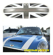BMW Mini Cooper / S / ONE Interno Posteriore Vista Specchio Copertina Nero Union Jack 2000-2003