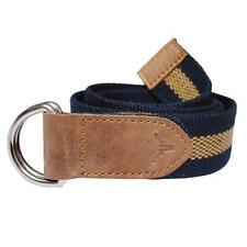 Hidekraft Canvas-Leather Belt - Freesize, BTCTNT0099, Navy/Tan