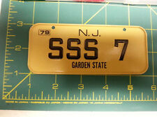 New Jersey Garden State 79 Bicycle plate - SSS 7 - Metal License plate
