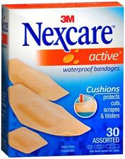Nexcare Active Extra Cushion Bandages Assorted 30 Each (Pack of 4)