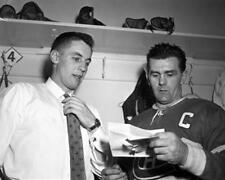 Jean Beliveau & Maurice Richard Montreal Canadiens Unsigned 8x10 Photo