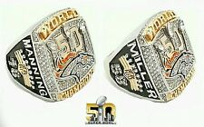 Denver Broncos Super Bowl Champion Manning/Miller Ring Set of 2