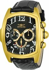 Invicta  Lupah Gold - Black Dragon Quartz Watch w/ Five-Piece Leather Strap Set