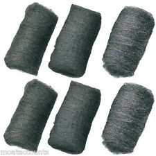 Steel Wire Wool, 2 x Fine, 2 x Medium,  2 x Coarse [SW100] Pack of 6