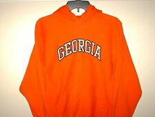 GEORGIA BULLDOGS, by Steve & Barry's, S, Orange Hoodie Pullover VGUC!