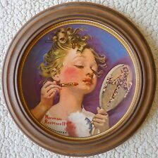 Knowles 1982 Norman Rockwell Collector Plate Making Believe At The Mirror 12385