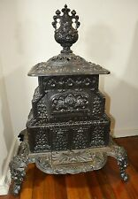 Antique Chapel Cast Iron Parlor Stove Newberry Filley Co. 1856 Albany Troy 19th