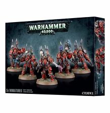 Warhammer 40K Chaos Space Marine Terminators Squad NEW