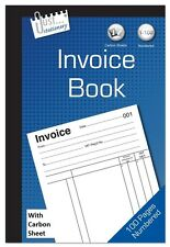 Full Size A5 Invoice Duplicate Receipt Book Numbered Cash 1 - 100 Pages Pad NEW