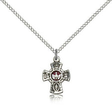 ".925 Sterling Silver Four Way Cross Necklace For Women On 18"" Chain - 30 Day ..."