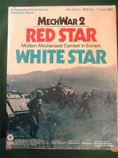 MechWar 2 Red White Star SPI War game Combat in Europe unpunched Strategy RPG