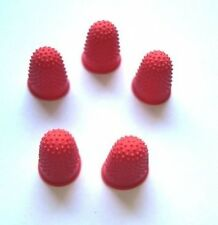 THIMBLES. DOG HAND STRIPPING. PACK OF 5. RED SIZE 00. SMALL.