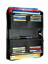 Multiple cheque book holder,5 to 8 saving cheque book,12 card holder,zipper,blk.