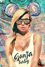 Ganja Baby Poster 24x36 Cannabis Weed