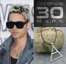 Vintage 30 Seconds To Mars Triad Silver Symbol Necklace/Pendant/JARED LETO