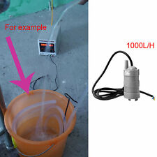 DC12V 5M Water Head Submersible Under Bath Pump W/ Black Cable 1000L/H Fine
