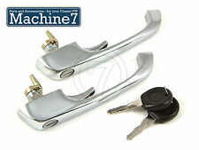 Classic VW Baywindow Camper Door Handle Lock with Matching Keys Bus 68-79, Pair