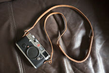 Genuine Real Leather Camera Shoulder Neck Strap for EVIL Film Camera Brown 104