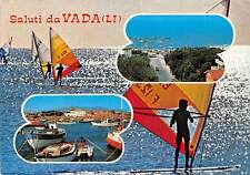 Italy Saluti da Vada (Li) multiviews, port harbour boats, surf souvenir